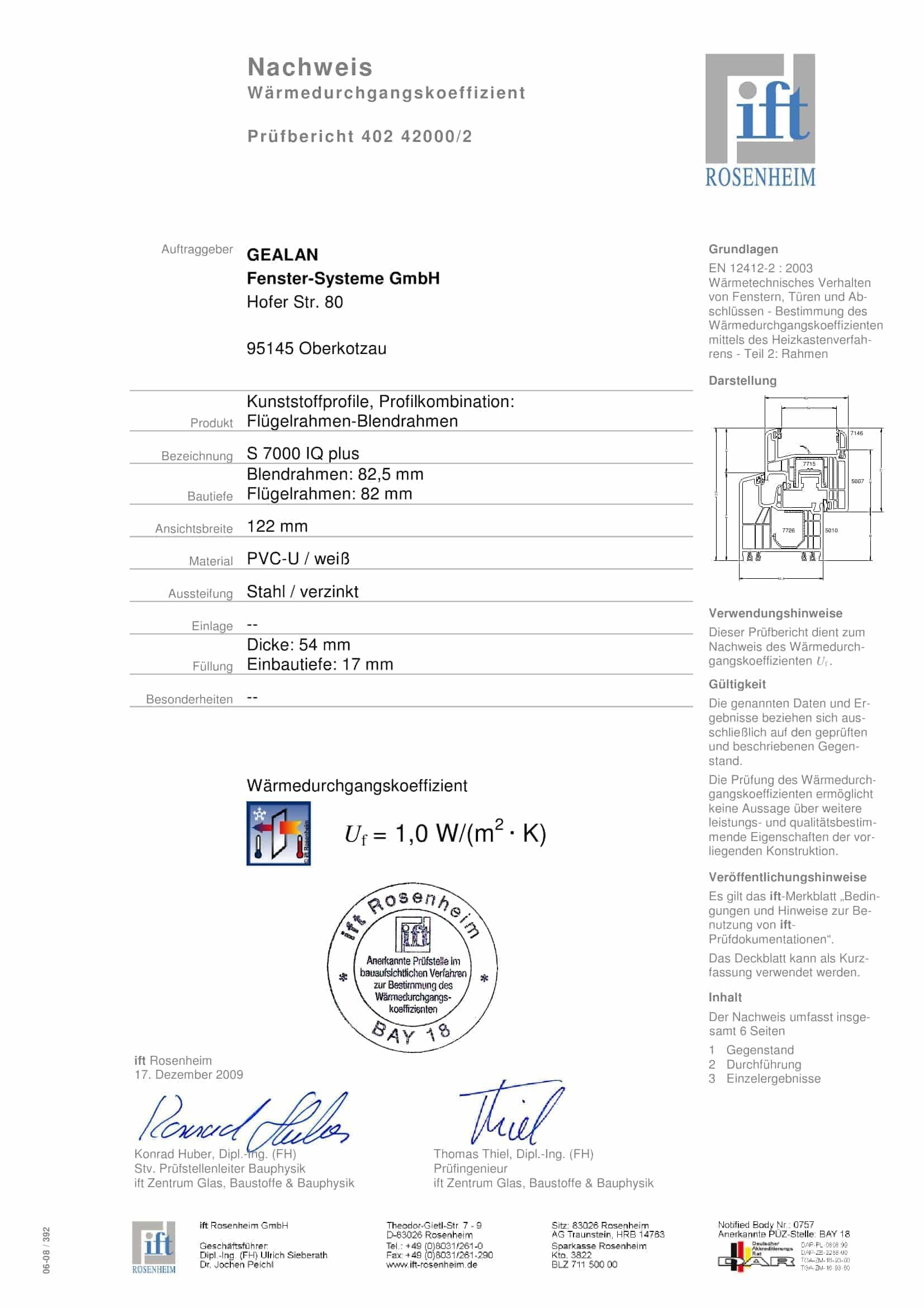 Kunststoffprofile, Profilkombination: Flügelrahmen-Blendrahmen