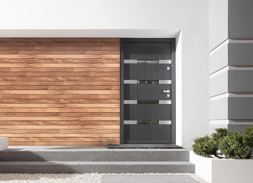 Entrance doors with Rodenberg filling
