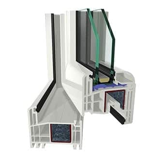 Plastic PVC windows based on Gealan S8000 profile