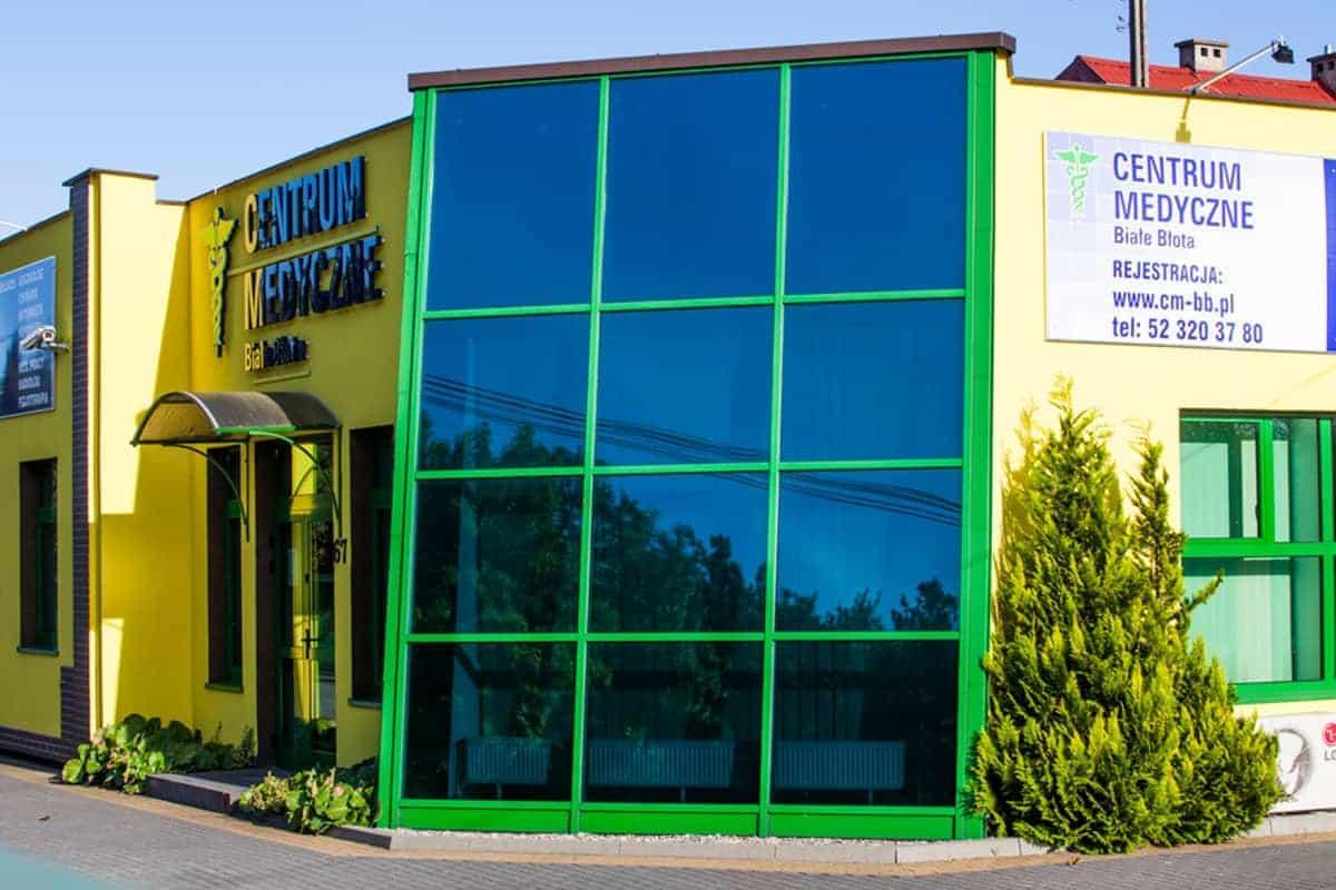 Okna Stolmar dla Centrum Medycznego Białe Błota.